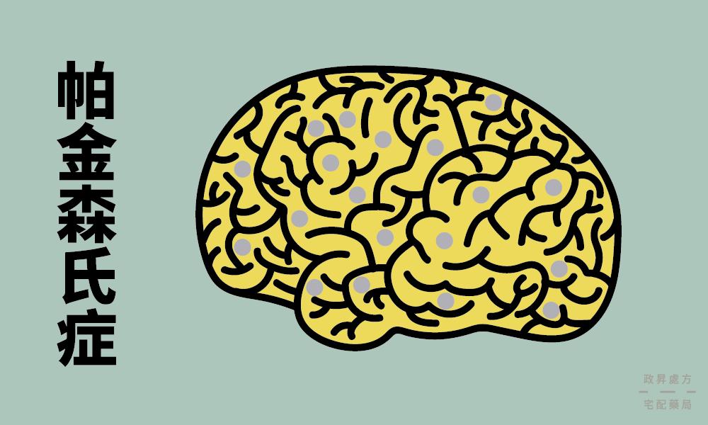 帕金森氏症的大腦外觀